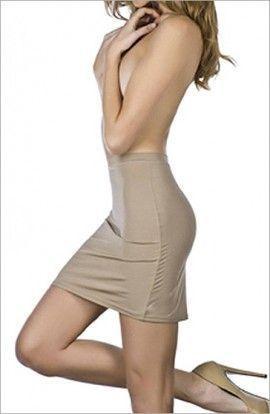 falda sin braga: