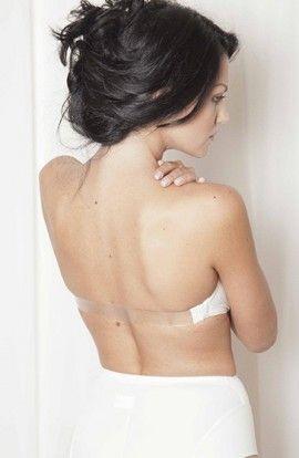 Clara Sujetador Nancy Sin Tirantes Aros y Relleno Silicona Espalda