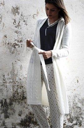 BKD Pijama Modal Beige Topitos