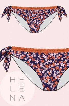 Bikini Cherry Beach Braguita Coral Lazos Extraibles