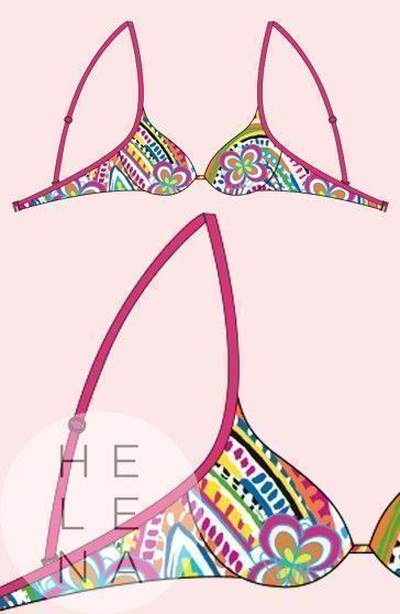 Bikini Cherry Beach Sujetador Keramas Aros Push Up