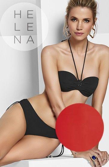 Basmar Bikini Palm Beach Bandeau Rojo Valentino