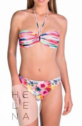 Bikini Tamoure Dolores Cortes Bandeau Estampado Flash