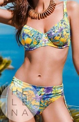 Basmar Bikini Zante Reductor Control Fit Estampado Copa D
