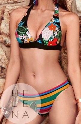 Basmar Bikini Madagascar Halter Sin Aros Copa C