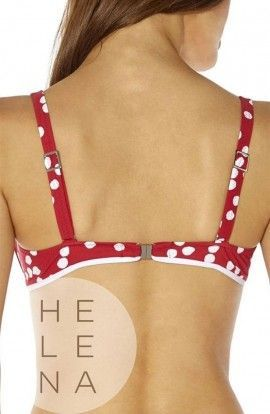 Bikini Red Point Volos Rojo Aros Sin Relleno Copa C
