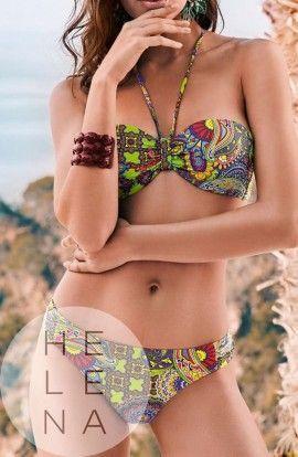 Basmar Bikini Java Bandeau Estampado Green