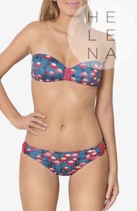 Dos Mares Bikini Valentine Estampado Bandeau Sin Aros