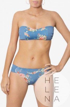 Dos Mares Bikini Chloe Estampado Bandeau Sin Aros