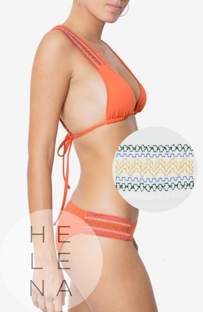 Dos Mares Bikini Gabrielle Liso BLANCO Cortina Cenefa