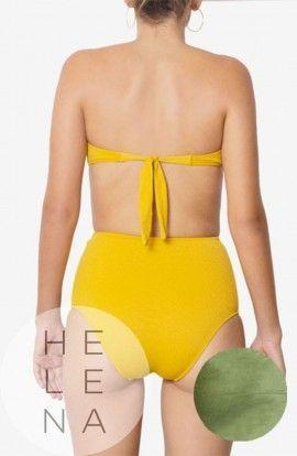 Dos Mares Bikini Caroline Liso VERDE Bandeau Sin Aros