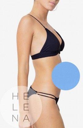 Dos Mares Bikini Constance Triángulo Liso AZUL