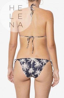Dos Mares Bikini Filippa Trángulo Estampado Palm