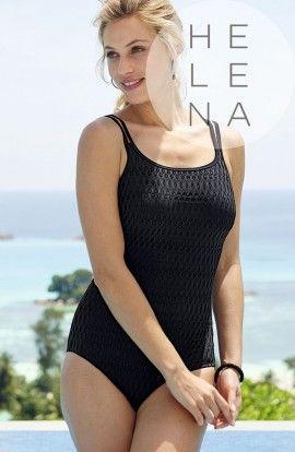 Anita Bañador Venedig Negro Prótesis Escote Recto