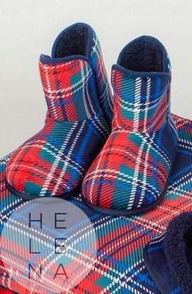 Señoretta Botas Scottie Estampado Escoces