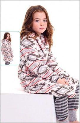 Lohe Conjunto Infantil Bata y Pijama Estampado Azteca