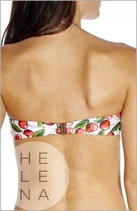 Bikini Red Point Cherry Bandeau Retro