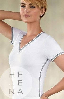 Janira Camiseta Trendy Sport Modal Blanca Manga Corta