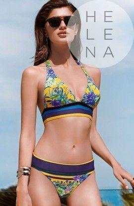 Basmar Bikini Zante Rayas Halter Sin Aros