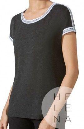 Janira Camiseta Loo Trendy Sport Negra Manga Corta