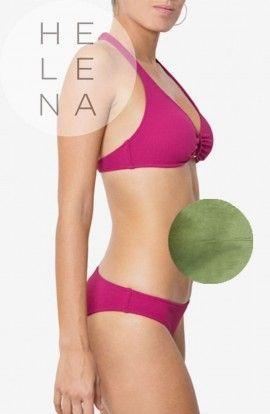 Dos Mares Bikini Caroline Halter Liso VERDE