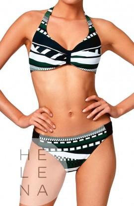 Basmar Bikini Bonnie Aros Sin Relleno Copa C Geométrico