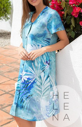 Mitjans Vestido Jaretas Estampado Hawaii