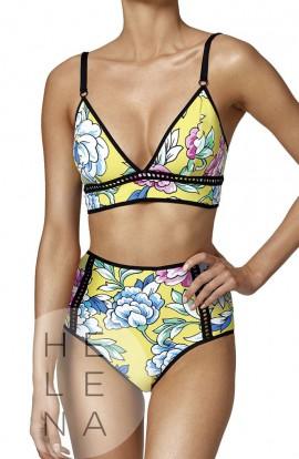 Basmar Bikini Kylie Amarillo Triangulo Braga Retro