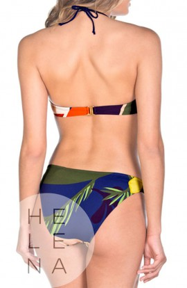 Dolores Cortés Bikini Bandeau Estampado Tropical