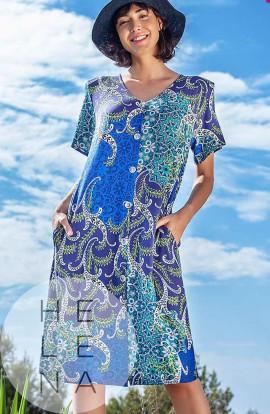 Vania Vestido Viscosa Abierto Estampado Paisley